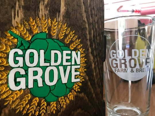 Golden Grove Farm and Brew will offer custom six-pack holders and pint glasses from the taphouse.