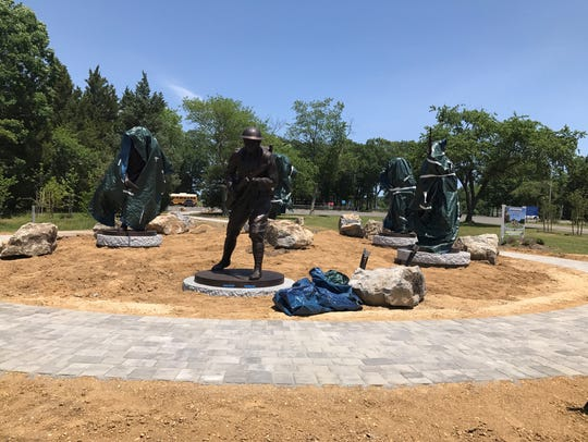 "The ""Protectors of Freedom"" memorial in Bey Lea Park"