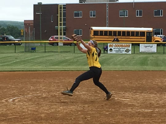 Montgomery pitcher and CN Softball Player of the Year Peyton Schnackenberg