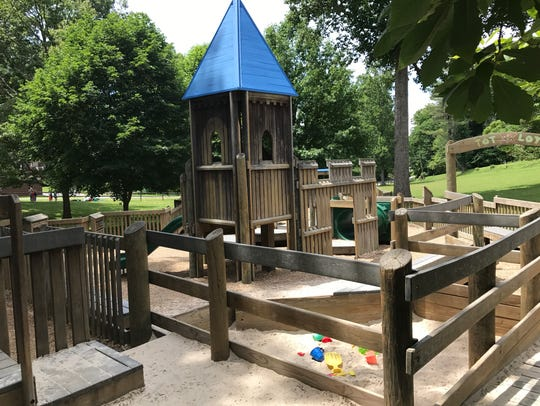 The tot playground at Jake Rusher Park in Arden.