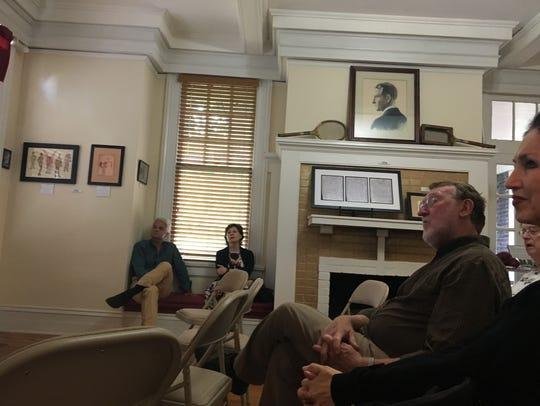 Australian author, Bruce Grimshaw speaks at The Fitzgerald