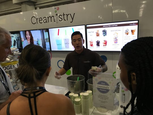 Creamistry, a company that creates flash-frozen ice
