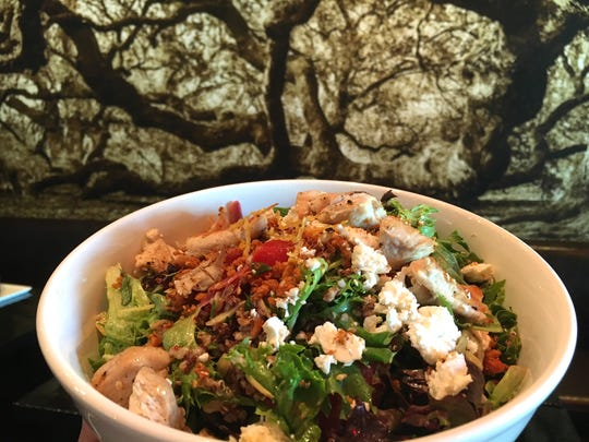 The Moroccan Mixed salad at The Park Restaurant and Bar in Oak Park features greens, tabouli, crispy chickpeas and assorted vegetables tossed in a charred lemon-turmeric vinaigrette.