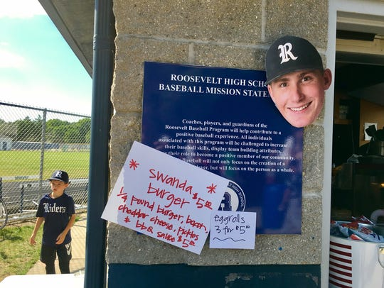 """In honor of """"John Swanda Night,"""" the concession stand"""