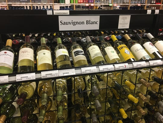 The liquor store offered a wide selection of Sauvignon