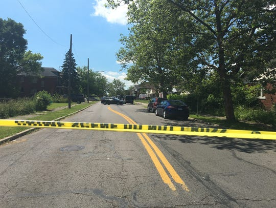A search is underway June 21, 2017 on the 4300 block