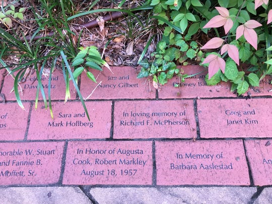 Bricks with the names of people who have died or names