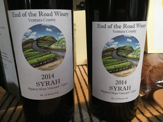 End of the Road Winery of Ojai earned a bronze award for its 2014 Slippery Slope Vineyard syrah during judging at the 2017 Ojai Wine Festival.
