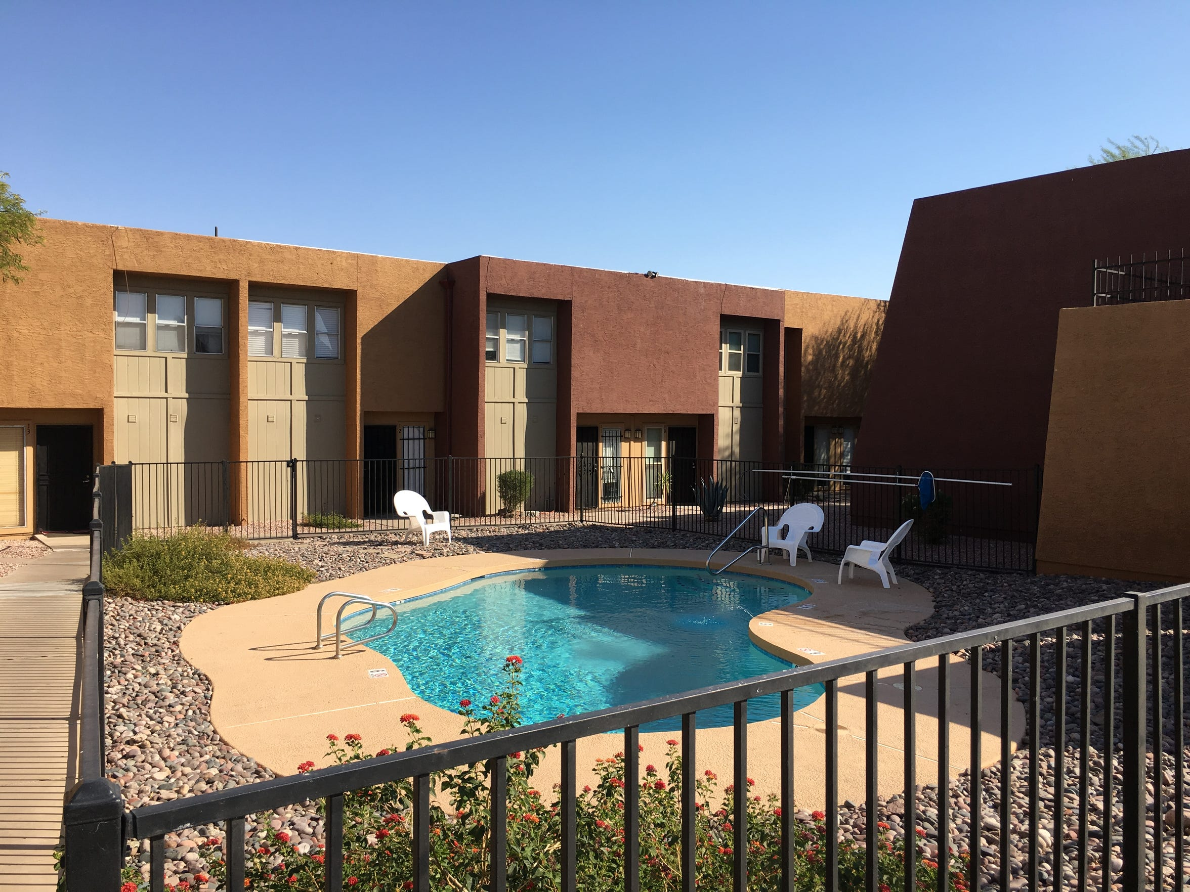 Ebony settled for a three-bedroom apartment in a north Tempe complex.