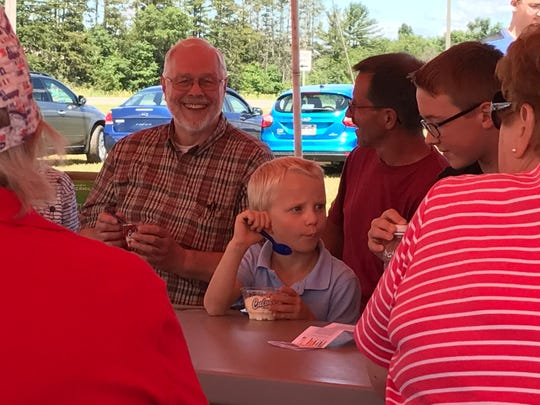 Guests enjoyed strawberry sundaes at The School at Altenburg's Farm June 21, 2017