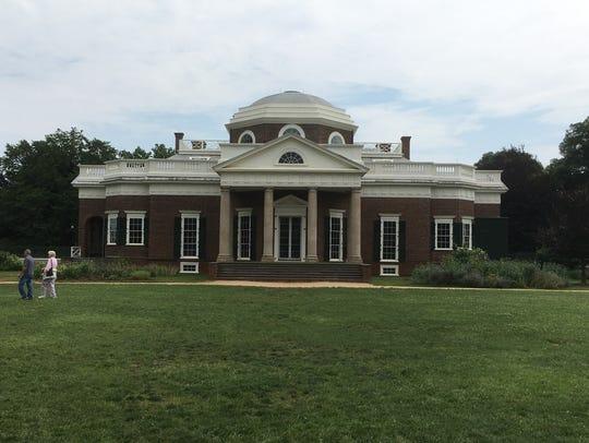 Monticello, historic home of Thomas Jefferson in Charlottesville,
