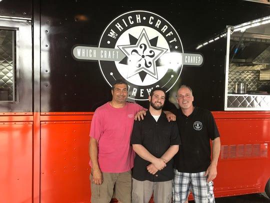Scott Baxter, left, Chris Prince, center, and John