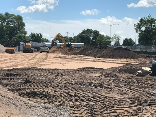 Construction site for the new Kwik Trip in Wisconsin