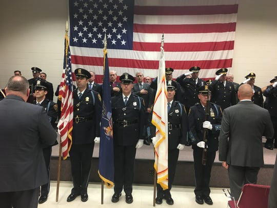 Ramapo Police Honor Guard at the Police Academy graduation