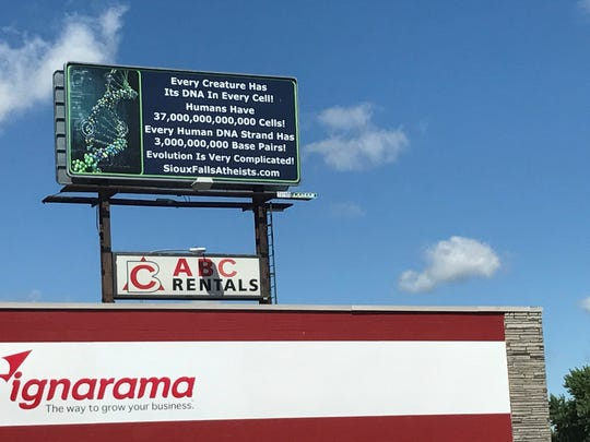 A billboard from Dale Hemming, founder of the Sioux