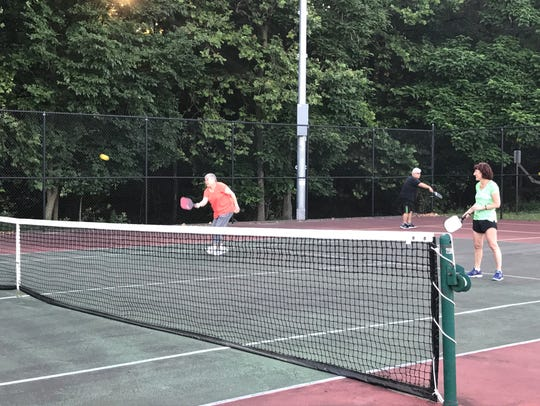 North Haledon residents play a game of pickleball on