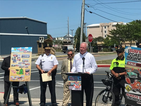 Ocean City Mayor Rick Meehan speaks at the town's 2017