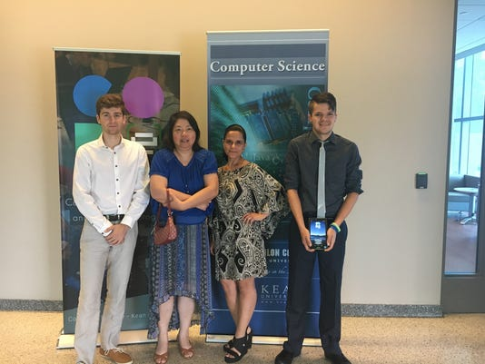Kean University computer science students present medical device