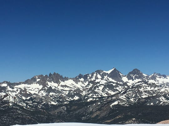 The Minarets as seen from Mammoth Mountain Resort on June 28, 2017.