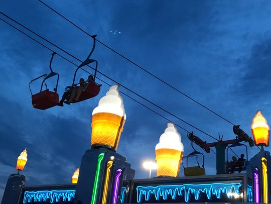 Blue hour shot with an iPhone at State Fair Meadowlands