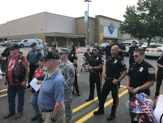 Veterans, township police and other responders listen