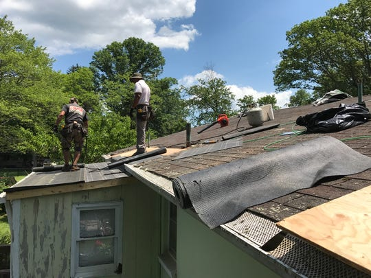 The Bernat home in West Milford underwent a free roof