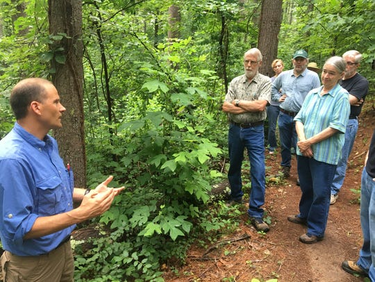 Andy Tait, left, lead forester with the nonprofit EcoForesters,