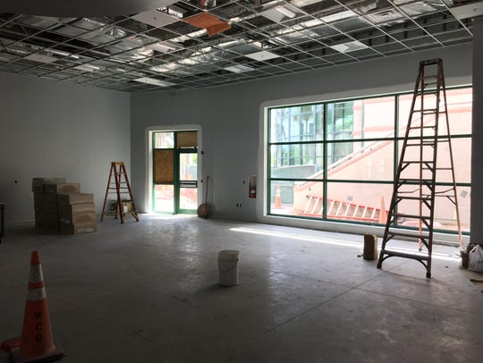 Entrance to the new, 3,700-square-foot sports medicine