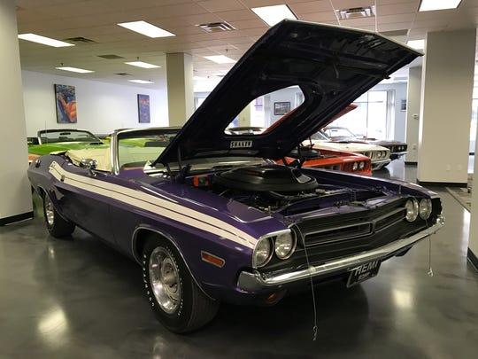 A 1971 Dodge Challenger in Plum Crazy at the upcoming