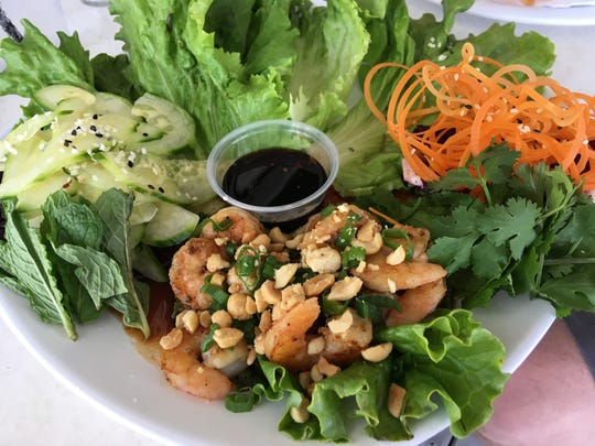 The shrimp lettuce wraps at Casino Beach Bar & Grille are light and a wonderful take on a classic. The menu is innovative and fun.