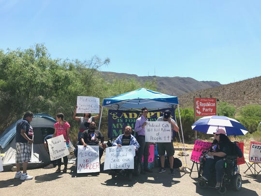 Activists from ADAPT Texas, a grassroots disability