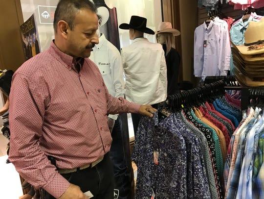 Jorge Estrada owner of El Dorado Fashions in Northridge