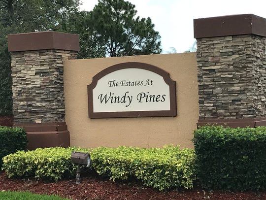 The house being auctioned is in Windy Pines in Port