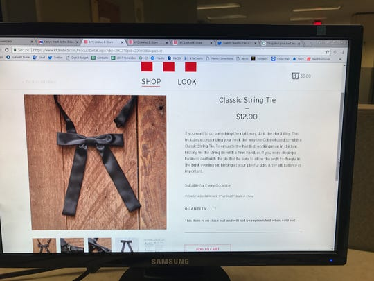 Classic string tie, $12