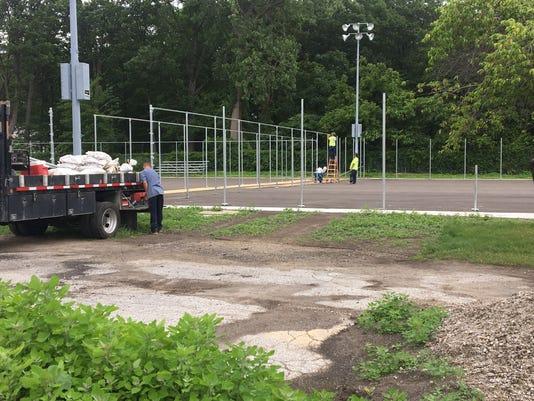 Port Huron Northern tennis courts