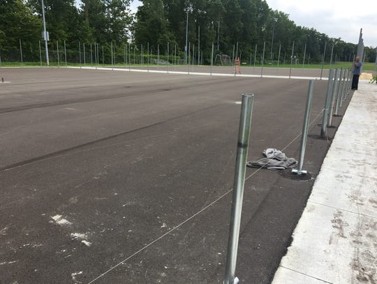 The Port Huron Northern tennis courts are almost finished.