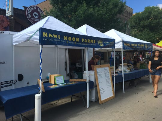 Nami Moon Farms booth at the Appleton Downtown Farm