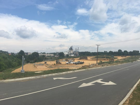 Construction at Staunton Crossing on Richmond Avenue