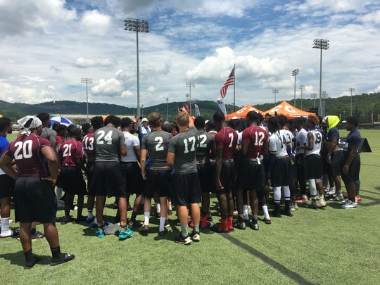 The Prattville team toured the campus of Georgia Tech this weekend at the Cam Newton 7-on-7 tournament.