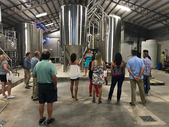 The evening started with a tour of the Playalinda Brewing