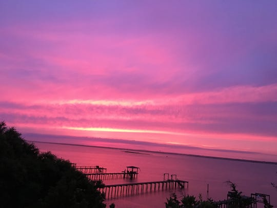 Spectacular sunsets over the sound along North Carolina's
