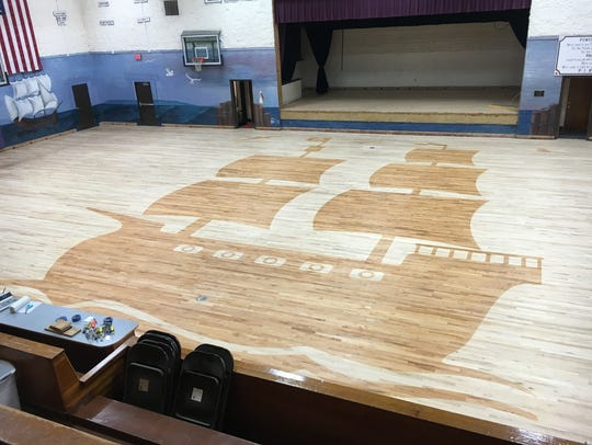 Power had its gym floor re-done last July.