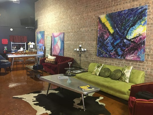 The attached venue space and coffee hangout area at