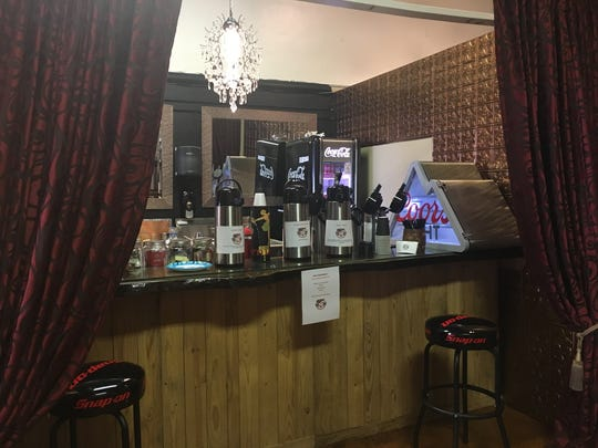 The coffee bar at Retro 521 in Bossier City.