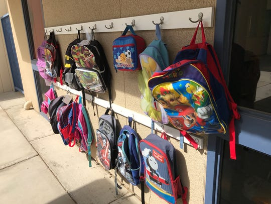 Student backpacks signal that students are ready for