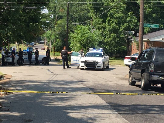 Memphis police investigate a shooting Tuesday in South Memphis that left a man in critical condition and a woman in non-critical condition.