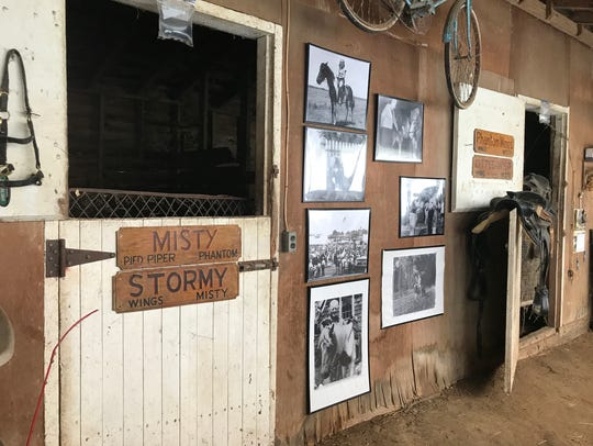 Visitors to the Beebe Ranch can see Misty's stall along