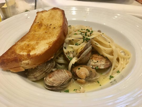 Linguine with clams from Izzy's Fish & Oyster in Fort Myers.