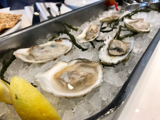 A selection of cold-water oysters from Izzy's Fish & Oyster in Fort Myers.