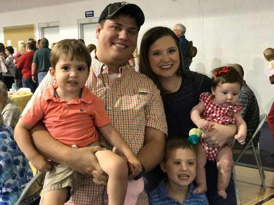 Lance Dumas with wife, Jessica, and their three children: